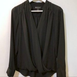 Inc Black Blouse